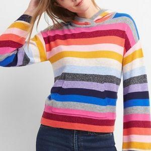 Gap crazy stripe sweater hoodie bell sleeves